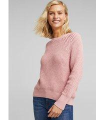sweater mujer texturado rosado esprit