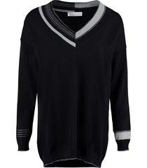 fabiana filippi cotton v-neck sweater
