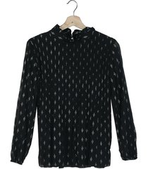 blusa negro-plateado paris district