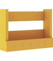 nicho decorativo 502x365x129 mm c/ suporte j amarelo movelbento - amarelo - dafiti