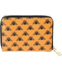 billetera abejas naranjo i-d
