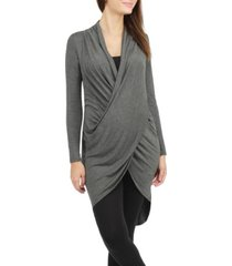 savi mom joplin long maternity tunic
