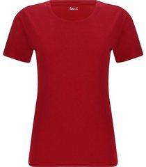 camiseta mujer unicolor en algodón color rojo, talla s