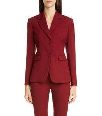 women's altuzarra two-button blazer, size 12 us - red