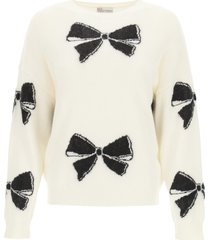 red valentino sweater with bow motif
