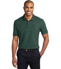 port authority k510 soil & stain-resistant polo shirt - dark green