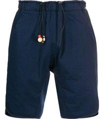 corelate bead detail track shorts - blue