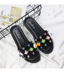 sandalias flip-flop para mujer plataforma chanclas interiores sandalias zapatillas venta caliente-negro