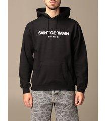 backsideclub sweatshirt saint germain backsideclub sweatshirt in cotton with logo