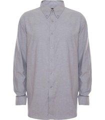 camisa oxford gris claro varón rossignol