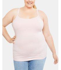 motherhood maternity plus size clip-down nursing tank top