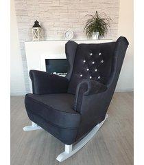 fotel bujany casablanca czarny welur