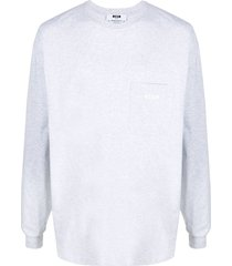 msgm pouch pocket sweatshirt - grey