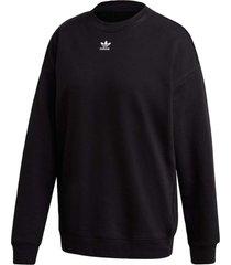 blusã£o adidas sweatshirt preto - preto - feminino - dafiti