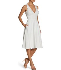 women's dress the population catalina fit & flare cocktail dress, size xx-small - white