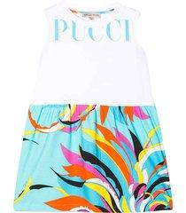 emilio pucci white sleeveless dress