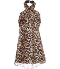vestido curto onça real - animal print