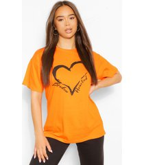 broken hearted t-shirt, oranje