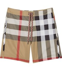 burberry exploded check swim shorts - neutrals