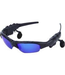 audífonos bluetooth, nuevo jugador de música sin manos estéreo de los vidrios de sun del auricular del receptor de cabeza de audifonos bluetooth manos libres  de las gafas de sol de la llegada (azul)