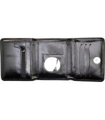 carteira de couro menor hendy bag preto fosco sem plastico - tricae