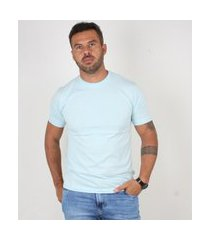 camiseta basica manga curta masculina lucas lunny lisa azul ...