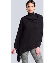 poncho alba moda zwart