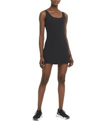 nike bliss luxe training dress, size xx-large in black/clear at nordstrom