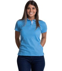 camiseta tipo polo azul claro hamer fondo entero