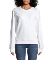 armani jeans women's dropped-shoulder sweatshirt - white - size 40 (6)