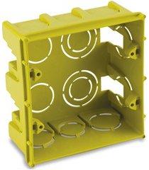 caixa de luz em polipropileno 4x4 quadrada amarela