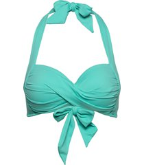twist soft cup halter bikinitop blå seafolly