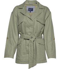 d2. belted field jacket zomerjas dunne jas groen gant