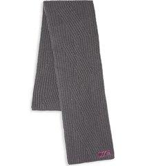 cavalli class men's wool knit scarf - smoke