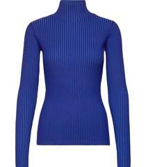 ebo knit top turtleneck polotröja blå holzweiler