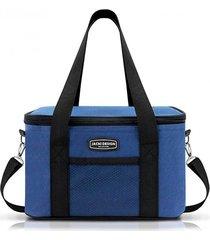 bolsa térmica unissex média jacki design semi rígida azul