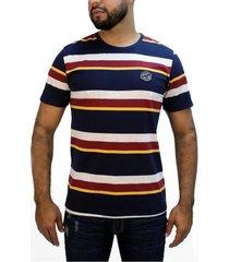 camiseta rayas azul para hombre delascar ts023