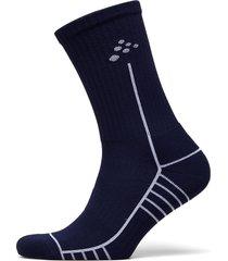 progress mid sock underwear socks regular socks blå craft
