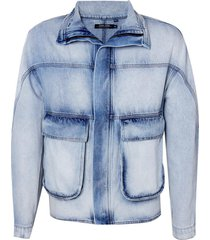 jaqueta john john mumbai masculina (jeans medio, gg)
