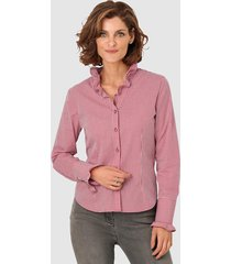 blouse mona rood::wit