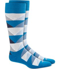 alfani men's abstract triangle socks, created for macy's