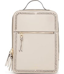 calpak kaya faux leather laptop backpack - beige