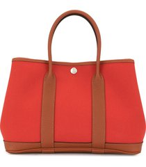 hermès 2018 pre-owned garden party tpm tote bag - red