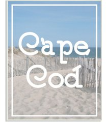 "stupell industries cape cod beach typography vintage-inspired wall plaque art, 10"" x 15"""