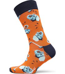 clean elephant sock underwear socks regular socks orange happy socks