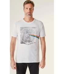 camiseta estampada pf darkcloud vj reserva branco - branco - masculino - dafiti