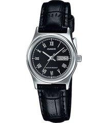 reloj casio ltp_v006l_1b negro cuero