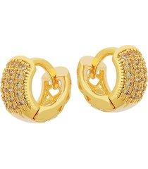 brinco dona diva semi joias argola 12mm dourada