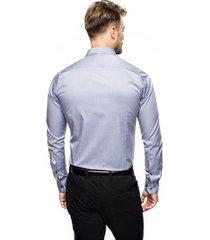 koszula bexley 2611 długi rękaw slim fit niebieski
