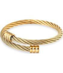 eye candy la women's lindsay titanium wrap coil bracelet